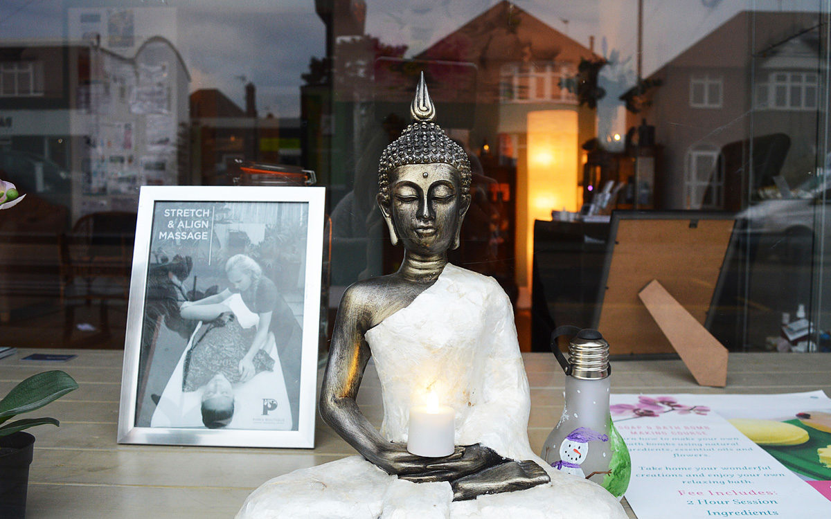 Buddha in window